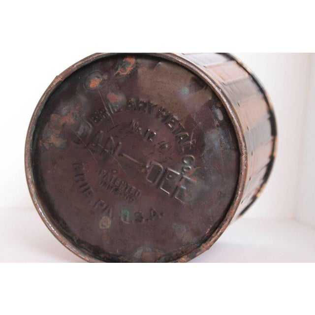 Machine Age Art Deco Industrial Arts Waste Receptacle by Erie Art Metal For Sale - Image 4 of 11