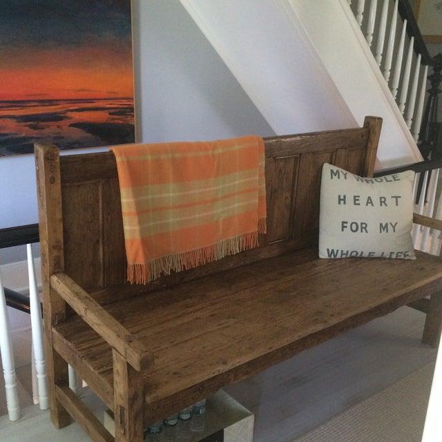 Orange Wool Blanket from London - Image 7 of 8