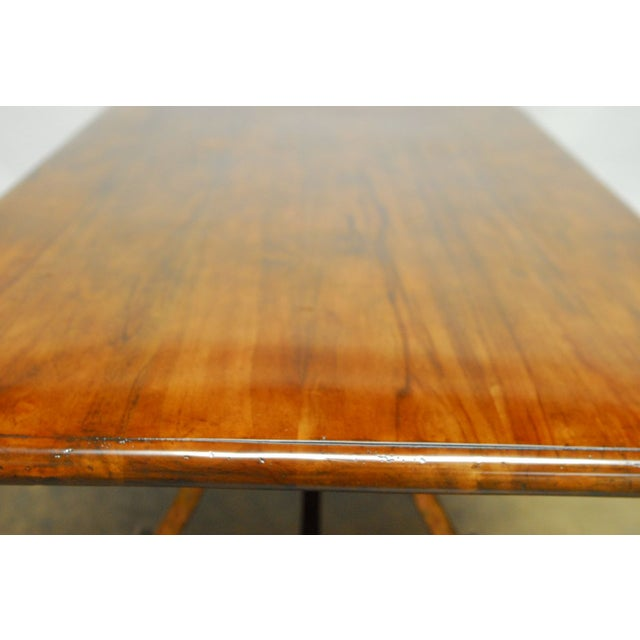 Spanish Colonial Trestle Table With Wrought Iron - Image 6 of 10