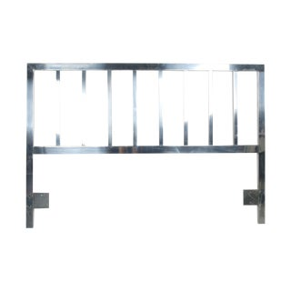 Mid-Century Full Size Aluminum Headboard For Sale