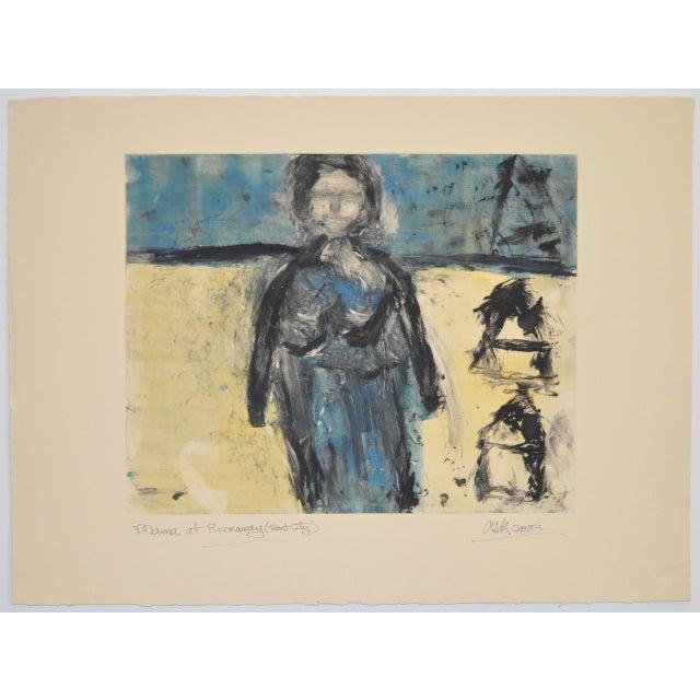 "Arthur Krakower ""Mama at Rockaway"" Original Monotype C. 2003 - Image 2 of 5"