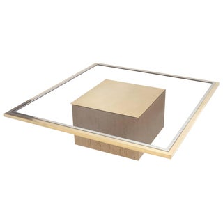 Roger Vanhevel brass and travertine Coffee Table