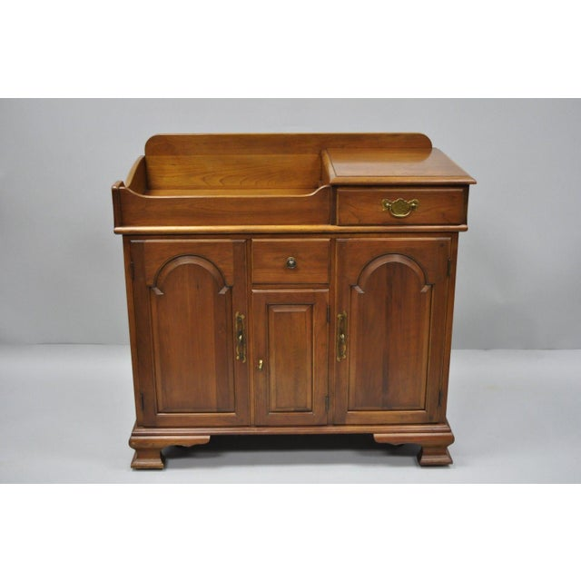 Pennsylvania House Solid Cherry Wood Colonial Drysink Dry Sink Cabinet Server For Sale - Image 12 of 12