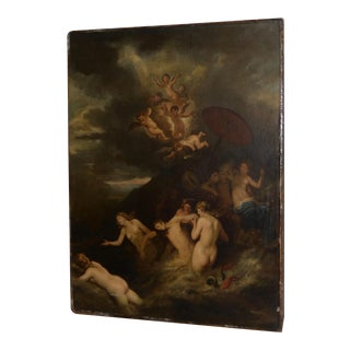 """Dutch School Old Master Oil Painting """"Hero and Leander"""" 17th to 18th C. Museum Quality For Sale"""