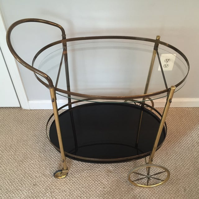 Hollywood Regency Two-Tiered Bar Cart - Image 4 of 4