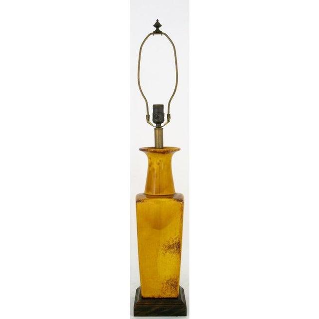 Saffron Glazed Vase Form Table Lamp By Frederick Cooper - Image 2 of 9