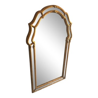 Antique Gold Trimmed Gilded Mirror