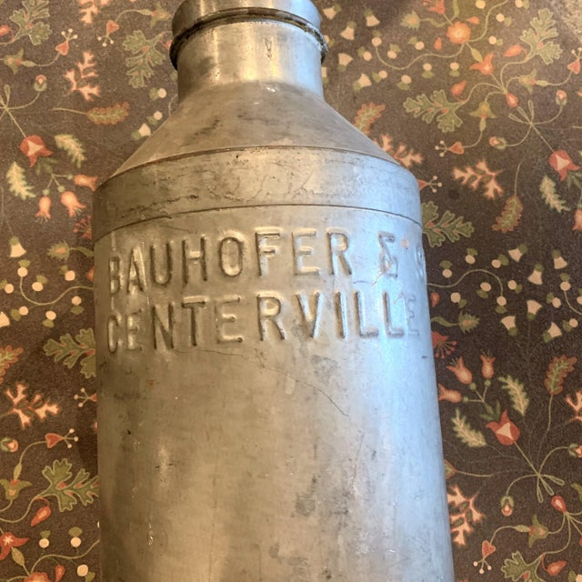 1930s Antique Joe Bauhofer & Sons Stainless Steel Milk Jug For Sale - Image 4 of 13