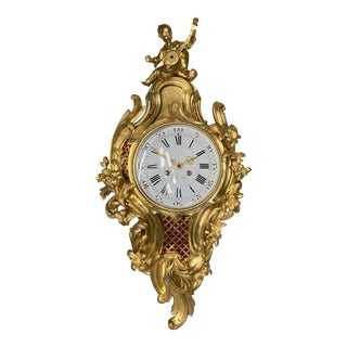 Mid 19th Century French Louis XVI Bronze Cartel Clock For Sale