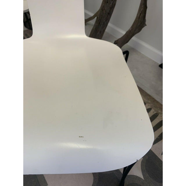 Metal Vintage Donghia Anziano Dining Chairs in White - Set of 8 For Sale - Image 7 of 11