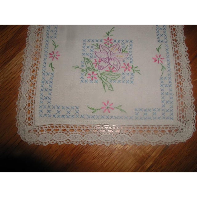 Hand Embroidered Furniture Scarves - Set of 4 - Image 8 of 10