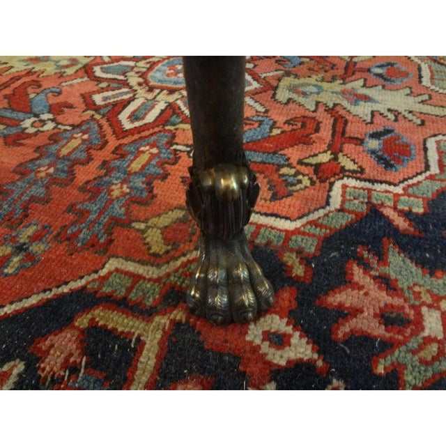 Italian Neoclassical Style Steel and Bronze Center Table After Giacometti For Sale - Image 9 of 13