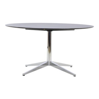 Florence Knoll Black with White Veining Marble Top Dining Table For Sale