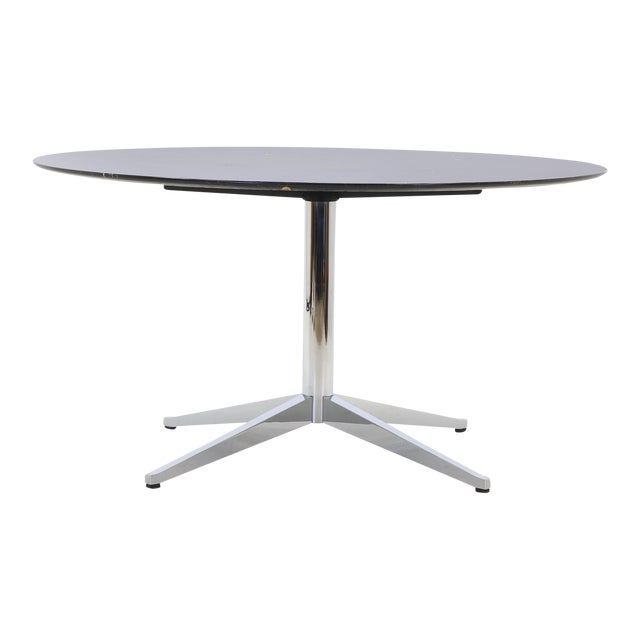 f9b941d5a03f Florence Knoll Black with White Veining Marble Top Dining Table For Sale