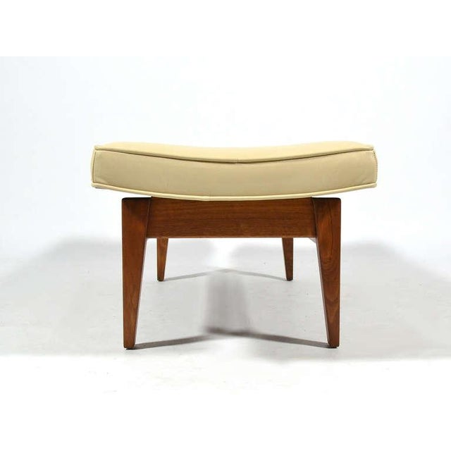 Jens Risom Floating Bench with Leather Seat - Image 6 of 9