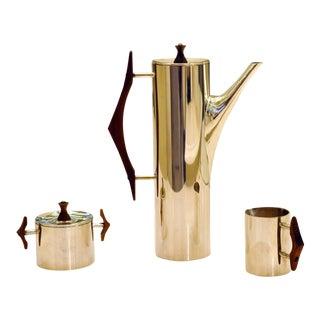 Gio Ponti Mid-Century Italian Silverplate Coffee Service - Set of 3 For Sale