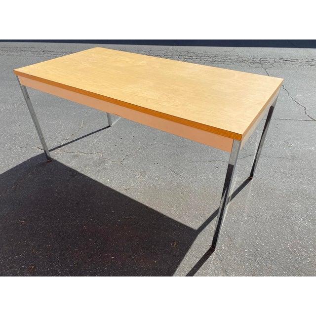 Steelcase 1980s Vintage Steelcase Metal Writing Desk For Sale - Image 4 of 13