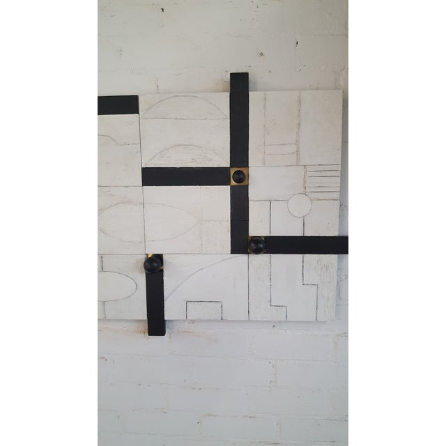 White Modern Frieze Three-Dimensional Wall Art Paul Marra For Sale - Image 8 of 9