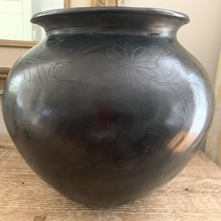 Large Signed Dona Roso Oaxaca Mexican Black Pottery Vase Preview