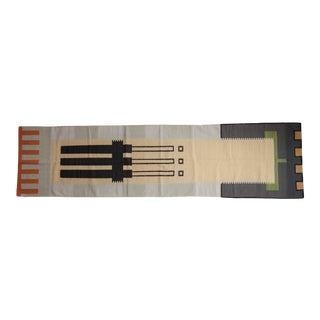 "Vintage Contemporary Kilim Rug Runner - 3'1"" X 11'7"" For Sale"