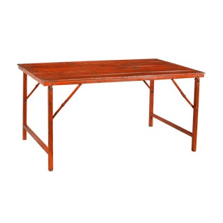 Vintage Red Folding Table