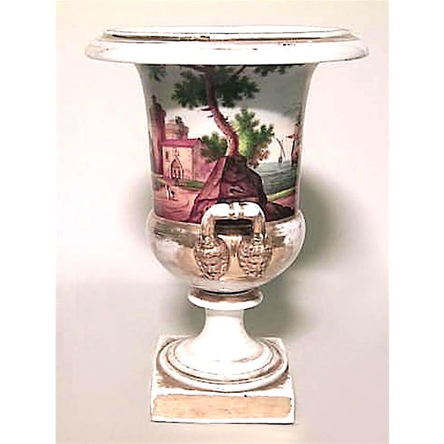 French Empire Style Porcelain Urn with Nautical Scene For Sale In New York - Image 6 of 7