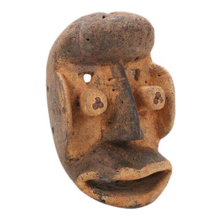 West African Wè Style Hand-Carved Wood Mask For Sale