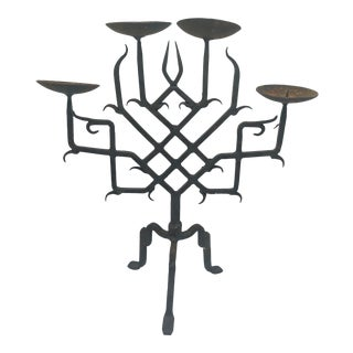Rustic Iron Candelabra For Sale