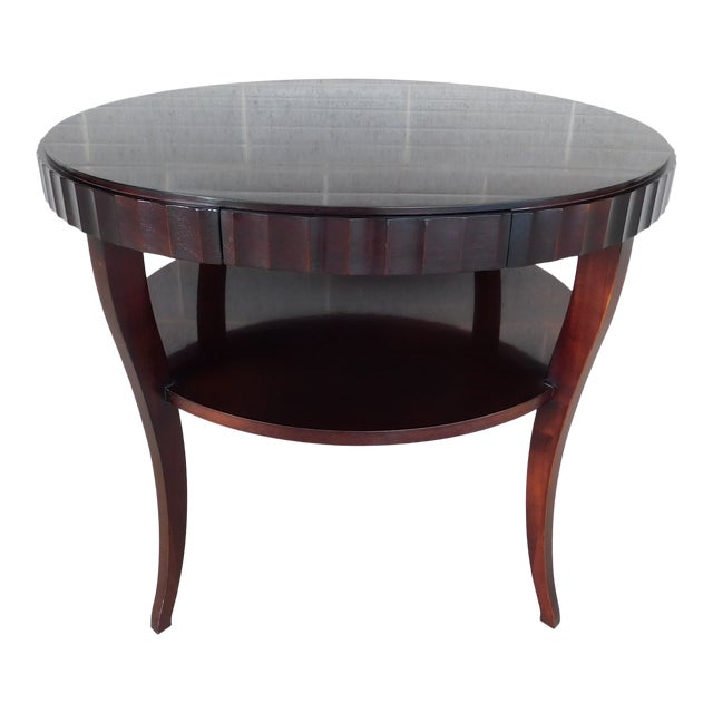 "Baker Barbara Barry Collection Mahogany Center Table 37""w For Sale"