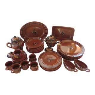 Vintage Mexican Pottery Dinnerware
