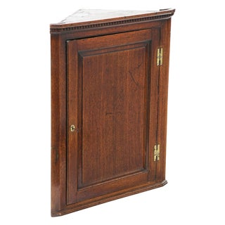 Circa 1790 English Georgian Corner Cabinet For Sale