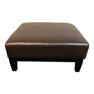 Contemporary Leather Ottoman For Sale