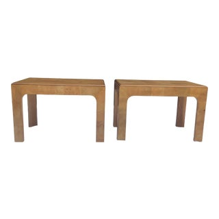 Henredon Scene Two Parsons Style Tables, a Pair For Sale
