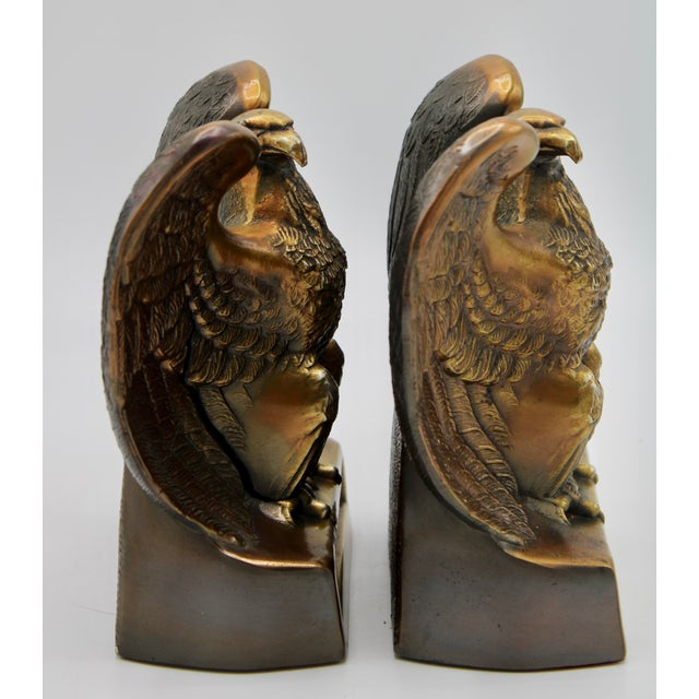 "Copper Vintage ""1776"" American Federal Eagle Bookends For Sale - Image 8 of 13"