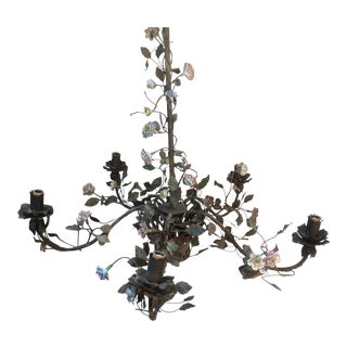 Early 19th Century Tole and Porcelain Chandelier