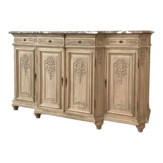 Antique Louis XIV Marble Top Buffet For Sale