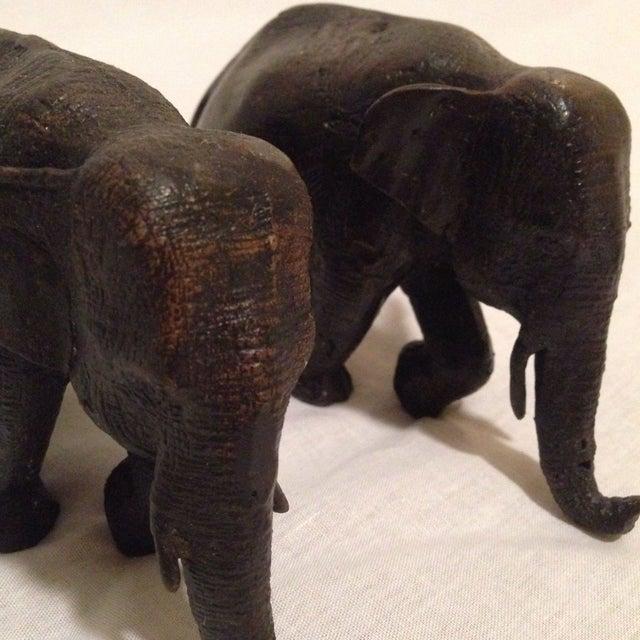 Antique Bronze Elephants - A Pair - Image 6 of 8