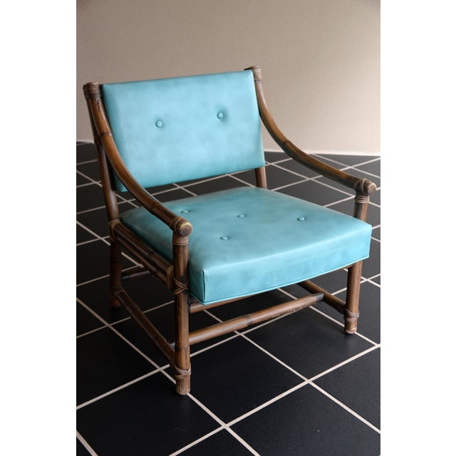 McGuire Bamboo, Leather & Rawhide Chairs - A Pair - Image 2 of 6