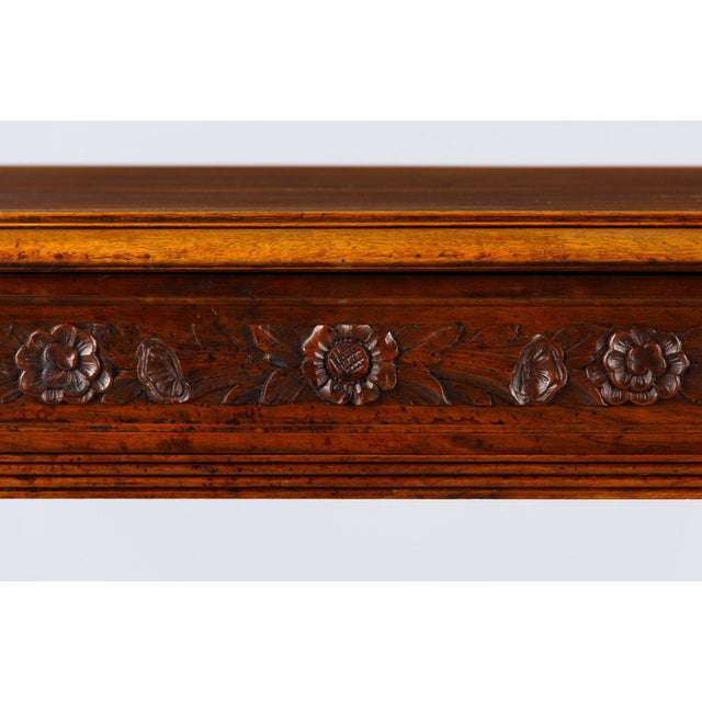 Gold French Louis XVI Style Walnut Desk, Early 1900s For Sale - Image 8 of 11