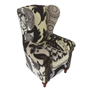 Upholstered Chair Sculpture by Artist Guiomar Gamero For Sale