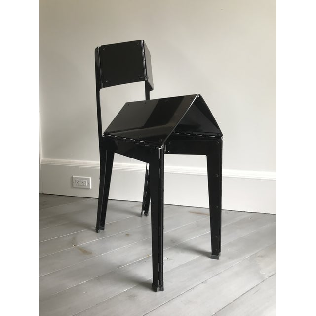 Abstract Folding Stitch Chair - 2 Available For Sale - Image 3 of 8