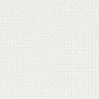 Sample - Schumacher Kiko Paperweave Wallpaper in White For Sale