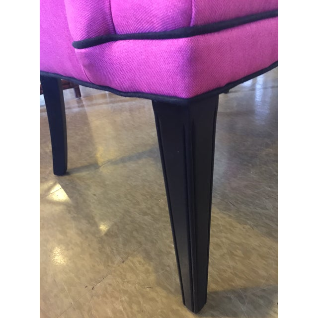 Vintage Hot Pink Wingback Chair - One Left! For Sale - Image 5 of 5