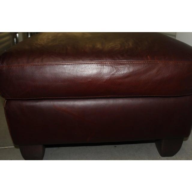 Natuzzi Leather Club Chair & Ottoman - Image 5 of 5
