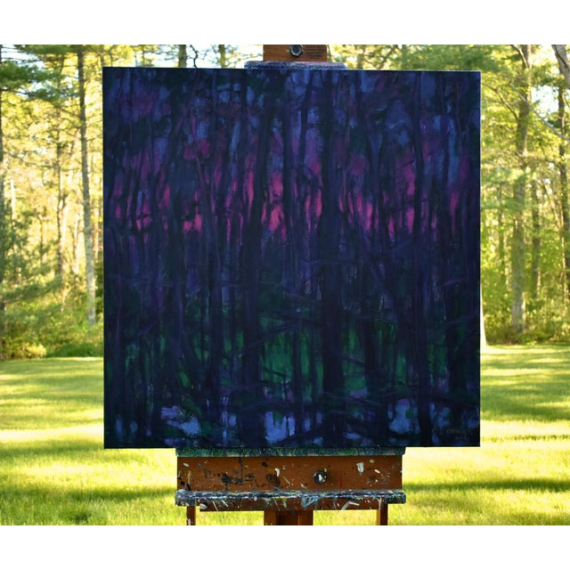 "Purple Stephen Remick ""You Were Always on My Mind"" Contemporary Painting For Sale - Image 8 of 10"