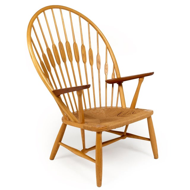 Johannes Hansen Hans Wegner for Johannes Hansen 'Peacock Chair', ca. 1947 For Sale - Image 4 of 10