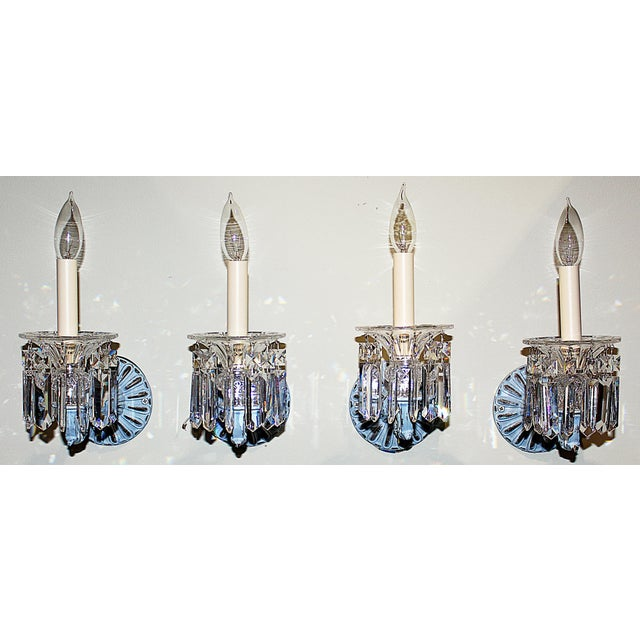 Blue Regency-Style Painted Sconces - Set of 4 For Sale - Image 8 of 9