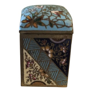 French Antique Champleve Enamel Inkwell For Sale