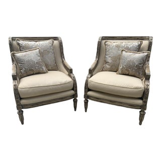 Contemporary Marge Carson Emperador Lounge Chairs - a Pair For Sale