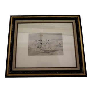 Antique Sepia Photo by R. Collins, Framed For Sale